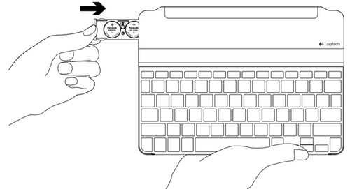 Replace keyboard batteries on the Ultrathin keyboard cover