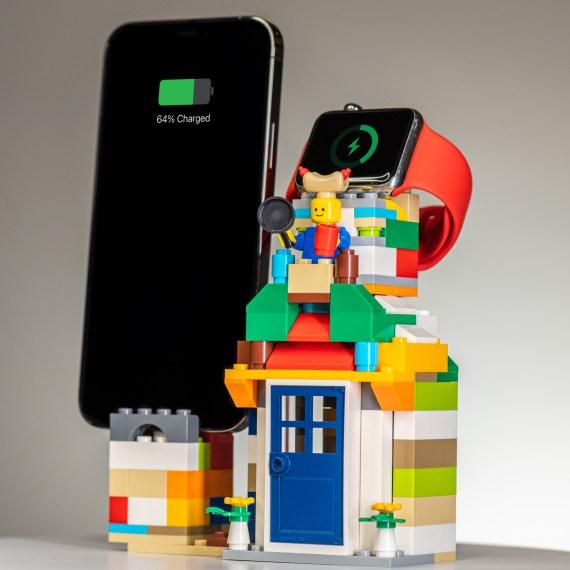 LEGO 樂高 MOC iPhone Apple Watch 二合一 充電 底座