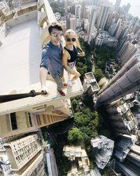 Gedung Tinggi Dari Atas : gedung, tinggi, Pasangan, 'Kencan', Gedung, Tinggi,, Foto-fotonya, Bikin, Merinding