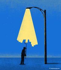 Inilah 10 Kreasi Surealis dengan Ide Cahaya Lampu