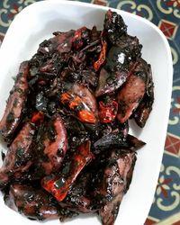 Masak Cumi Hitam : masak, hitam, Uenak, Poll!, Hitam, Timuran, Dicicipi