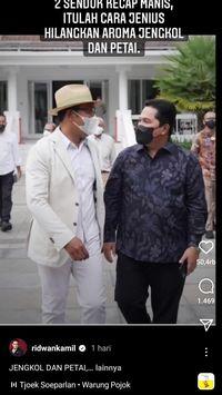 Erick Thohir Santap Banyak Jengkol, Ridwan Kamil Bagikan Tips Hilangkan Bau Jengkol dan Petai