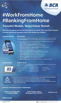 Bca Klik Bisnis : bisnis, Cegah, Corona,, #BankingFromHome