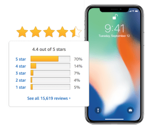 iphone seller rating