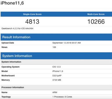 iphone geekbench test