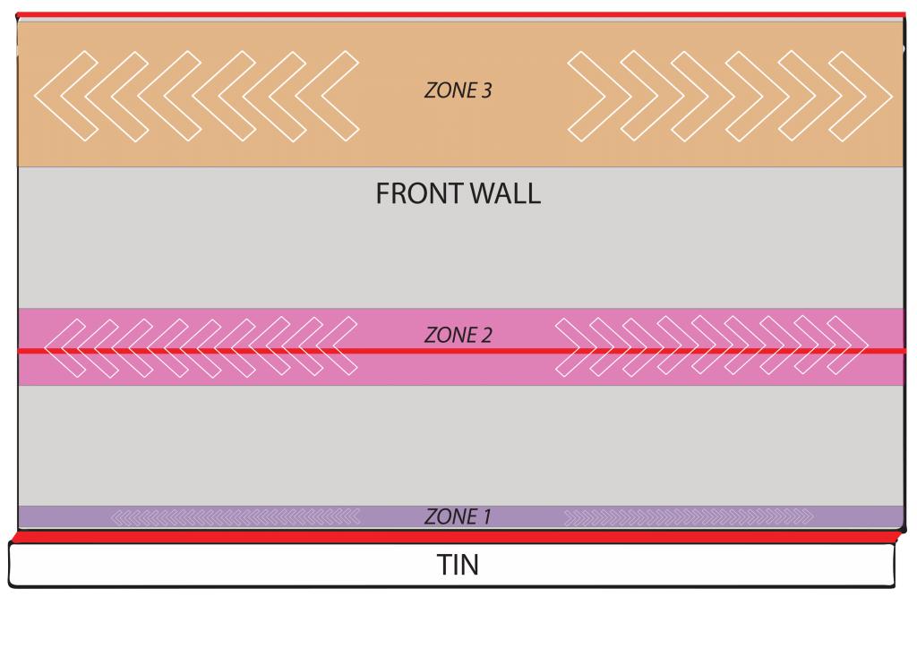 Squash front wall