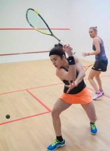 Squash Blog - A backhand drive