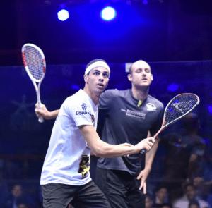 Squash Blog - Ali Farag - Racket preparation
