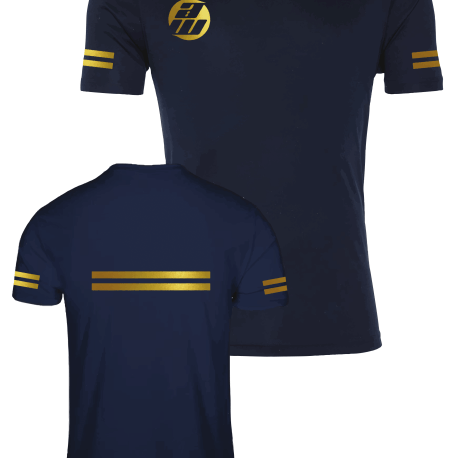 Navy and Gold Front and Back