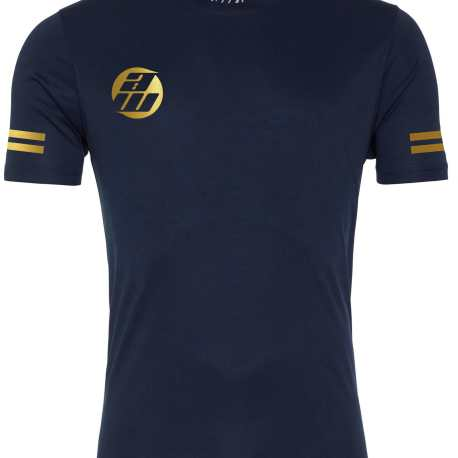 Navy and Gold T-Shirt Front