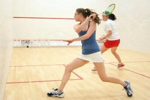 Woman squash player