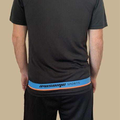 Black Panel T-Shirt Back