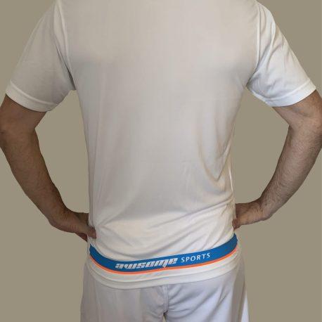 White Panel T-Shirt and Shorts Back