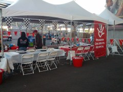 PCH tent for runners participating in Miracles in Motion