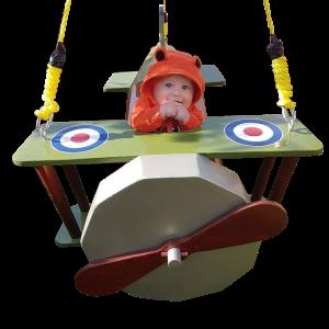 Biplane Toddler Swing Front View
