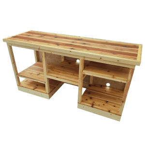 Spruce and Cedar Entertainment Console with Subwoofer Cove