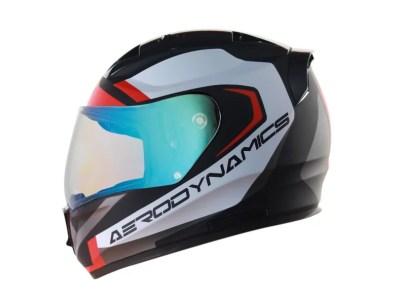 Steelbird SA-1 Aerodynamics Helmet with Blue Visor