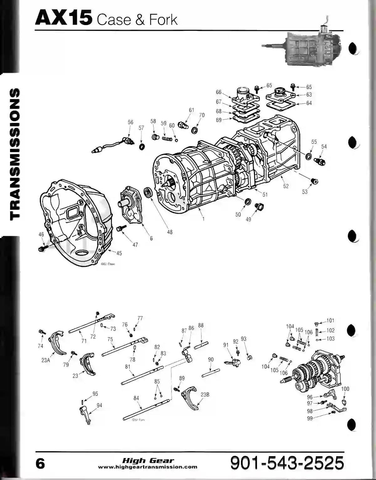 hight resolution of ax15 transmission diagram