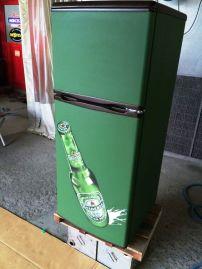 冷蔵庫黒板化チョークアート2