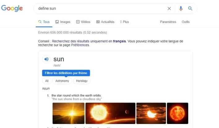 جستجوی خورشید را در گوگل تعیین کنید