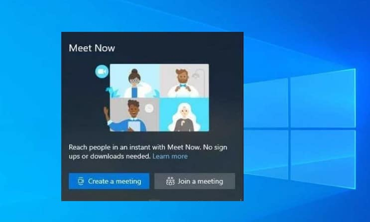 skype meet now windows 10