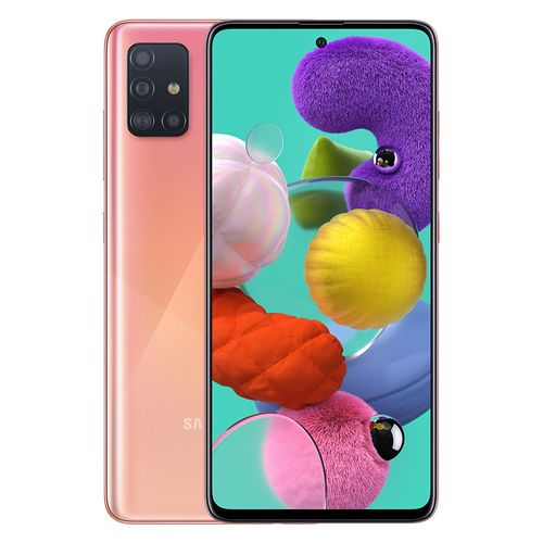 Galaxy A51 - 6.5-inch 128GB/6GB Dual SIM 4G Mobile Phone - Prism Crush Pink