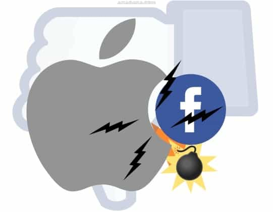 facebook vs apple conflict