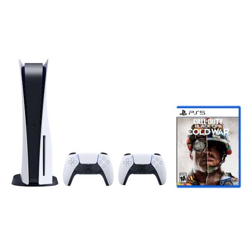 PlayStation 5 Console + Extra DualSense Wireless Controller + Call Of Duty: Black Ops Cold War (PS5)