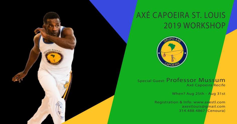 Axe Capoeira St. Louis 2019 Workshop with Prof. Mussum