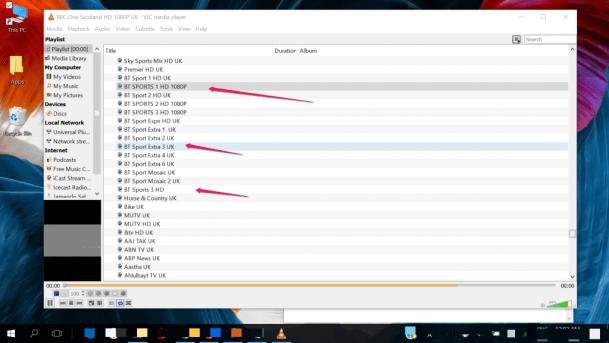 VLC IPTV Player for Windows 10 PC