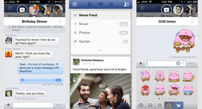 Facebook home chat, facebook chat heads