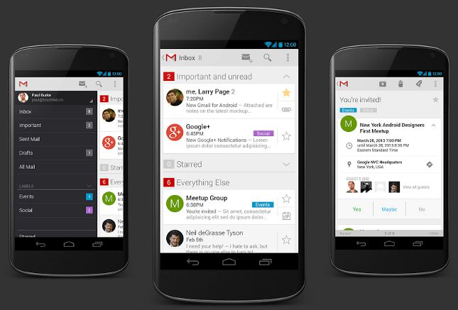 Gmail New, Gmail 5, Gmail Android, Gmail app, Gmail Phone, Gmail 5.0
