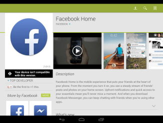 Facebook Home google store