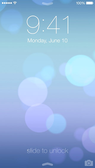 Download flat iOS 7 lock screen on your iOS 6 device    AxeeTech