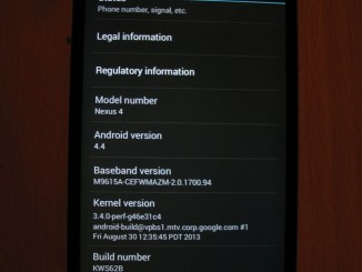 KitKat 44 update on nexus 4