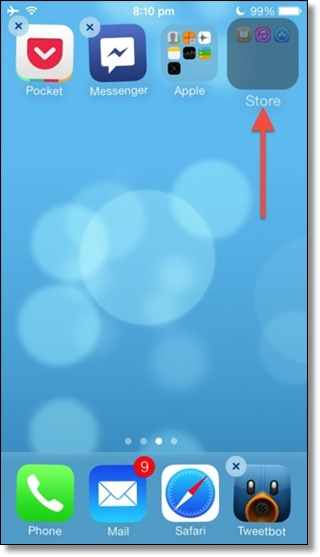 Create Nested folder in iOS 7 without jailbreak