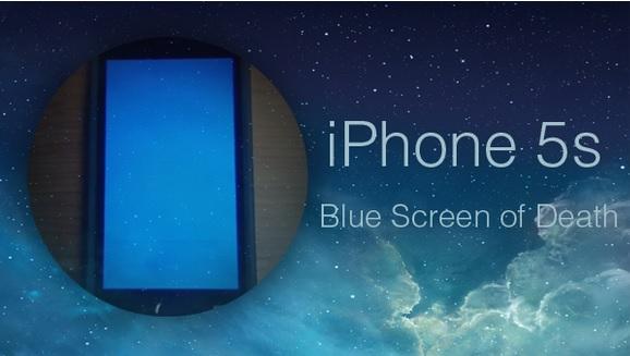 iPhone 5S Blue Screen fix