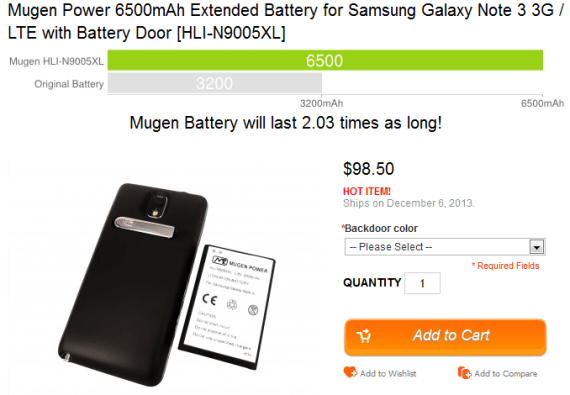 Replacement Battery for Galaxy note 3