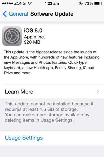 iOS Software update failed error iOS 8 server couldnt connected error