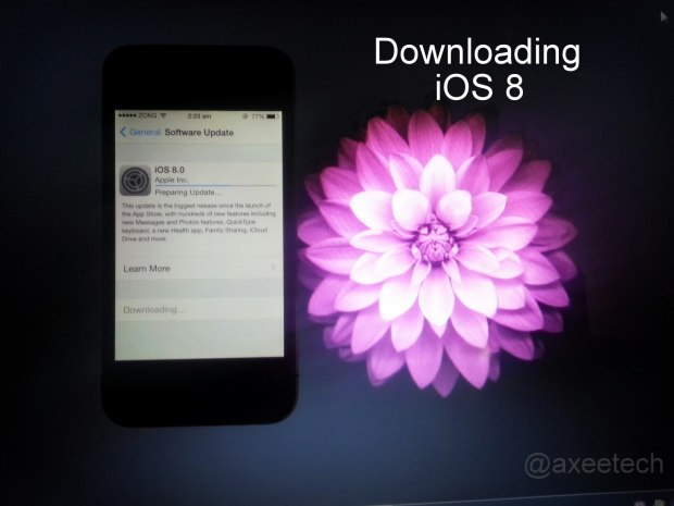 iOS 8 OTA Download, iOS 8 Download error, iOS 8 server error