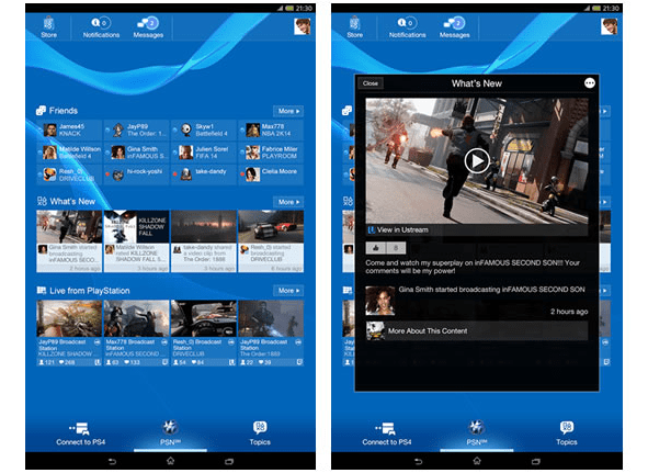 PlayStation app updated with refreshed UI and tablet support
