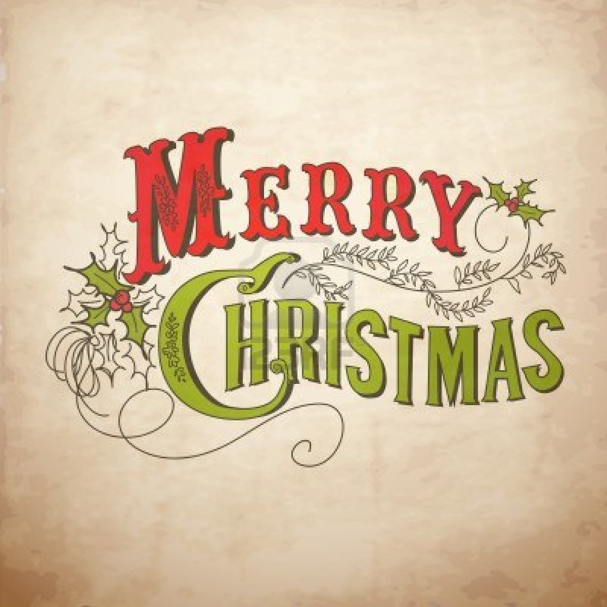 11158899-vintage-christmas-card-merry-christmas-lettering