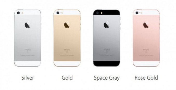 iPhone 5SE four colors