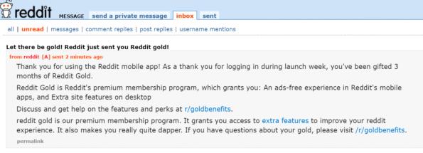 reddit gifts