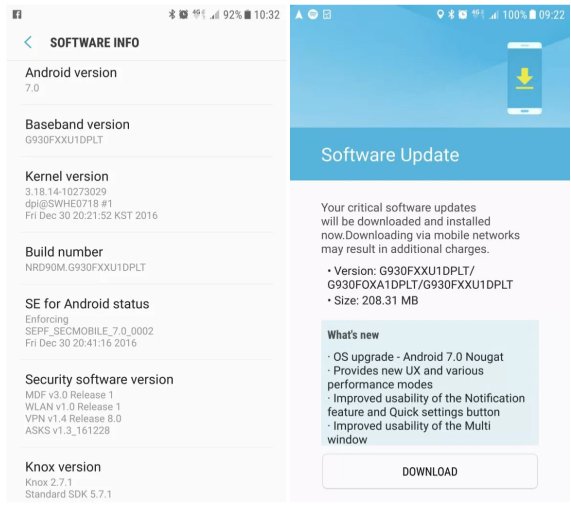 Update Samsung Galaxy J7 (2016) SM-J710FN to Android 7 0