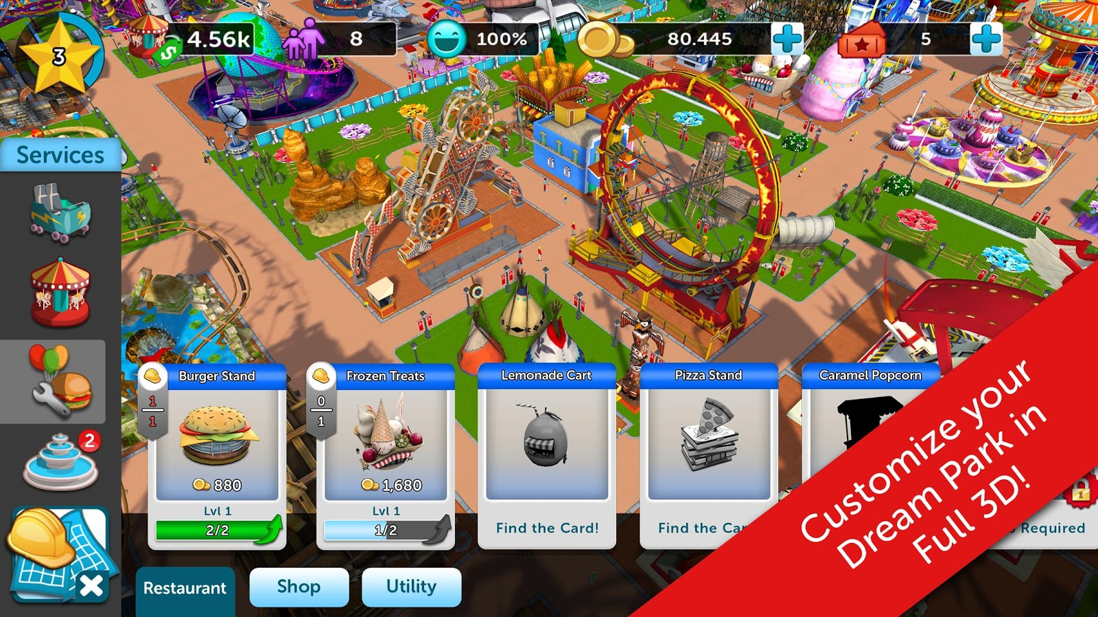 RollerCoaster Tycoon Touch v 1 2 21 Mod Apk with unlimited coins and