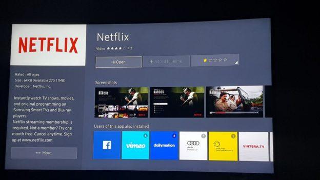 Netflix 4k Samsung App