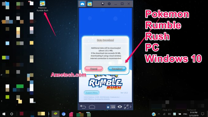 Pokemon Rumble Rush for PC Windows 10 Bluestacks Mod