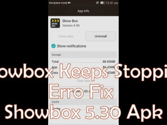 Showbox Keeps Stopping Server Error Fix
