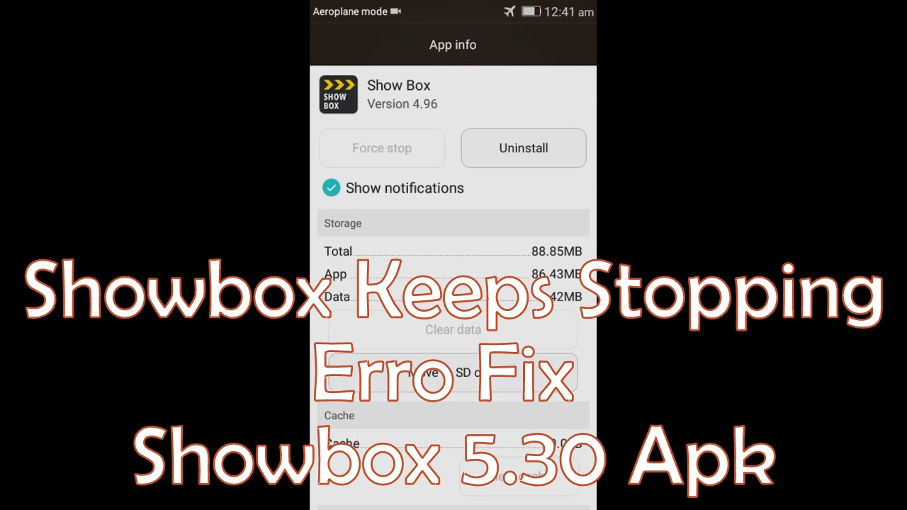 How to fix Showbox Keeps Stopping issue in new Showbox Lime